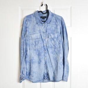 Calvin Klein Jeans Button Up Chambray Top Sz Small